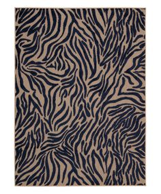 Look what I found on #zulily! Navy Zebra Stripes Rug #zulilyfinds