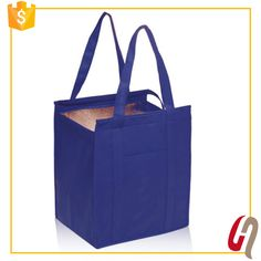 Custom printed hot sales Non Woven Insulated Tote Bags with zipper