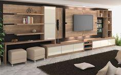 48 Ideas home theater planejado sala Tv Wall Design, Design Case, House Design, Living Room Tv, Home And Living, Home Theater Installation, Muebles Living, Home Tv, Home Deco