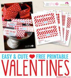Easy & Cute Free Printable Vanentine's! I like the way you Roll! howdoesshe.com