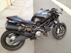 Fully murdered out / blacked out Monster 696.