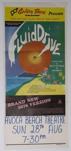 "1976 Vintage Surf Movie Poster - ""Fluid Drive"""
