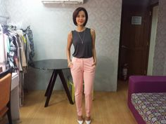 [Uber OOTD:Jun27-2014] Topshop top, pants from The SM Store