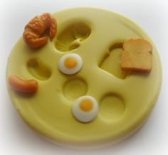 Toast Egg Mold Crescent Roll Sausage Mould Miniature by Food Mold, Miniature Food, Miniature Dollhouse, Mint Recipes, Egg Toast, Mini Donuts, Scented Wax Melts, Polymer Clay Miniatures, Mini Things