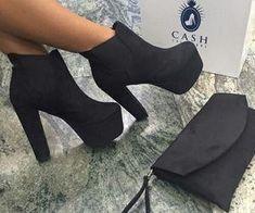 High Heels Long Boots For Women High Heel Non Slip Inserts Thigh High Boots, High Heel Boots, Heeled Boots, Bootie Boots, Shoe Boots, Ankle Boots, High Heels, Shoes Heels, Black Heels