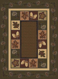Bear Wilderness Rug Collection Toffee Rustic Lodge Decor Diy Decorating Tips Pinterest Hall Runner And Cabin