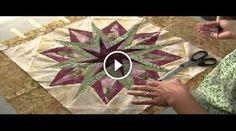 """""""Amy Griffin"""", la bravissima youtuber che ha realizzato questo tutorial, vi mostrerà uno splendido lavoro in patchwork, nello specifico vedrete un blocco con"""