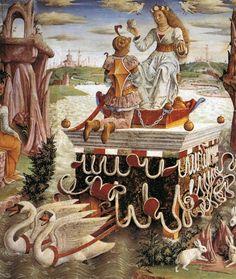 Francesco del Cossa c. 1476-1484 Allegory of April: Triumph of Venus (detail)
