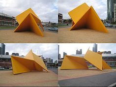 Vault at Southbank, Melbourne pictured in Artist: Ron Robertson-Swann 1978 Yellow Peril, Less Is More, Vaulting, Public Art, Pavilion, Abstract, Building, Pictures, Melbourne Australia