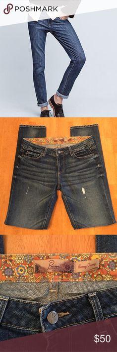 "NWOT Paige Jimmy Jimmy boyfriend jeans size 26 NWOT Paige Jimmy Jimmy boyfriend jeans size 26, factory distressed, inseam 29.5"", 7.5"" rise, never worn without tags PAIGE Jeans Boyfriend"