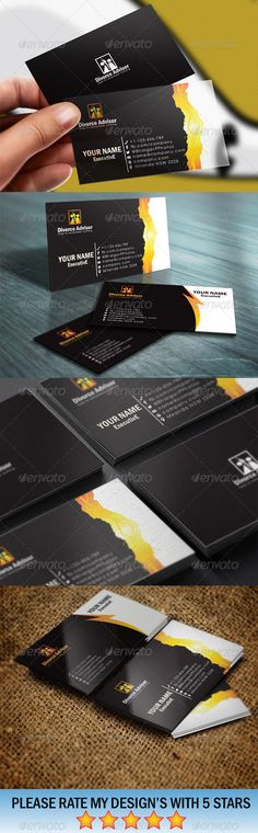 Metro Design Business Card Business cards, Template and Business - divorce templates