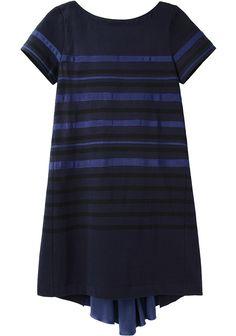 Sacai Luck / Grosgrain Stripe Lace Dress