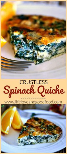 Crustless Spinach Qu
