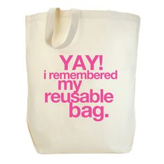 yay! I remembered my reusable bag. big tote - Dogeared