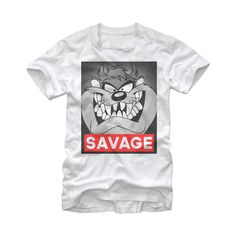 Looney Tunes Taz Savage T Shirt #wildstyle