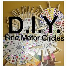 D.I.Y. Fine Motor Skill Circle Freebie! Grab this free download today!  www.adventureswithabainas.blogspot.com