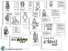 My book about greek mythology words. Compare words in English and Greek. Grades K-2 https://www.teacherspayteachers.com/Product/My-book-about-Greek-Mythology-Words-2993760