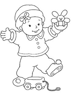 baby coloring pages for kids free - Baby Girl Coloring Pages Kids