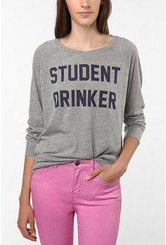 UrbanOutfitters.com > Sparkle & Fade Student Drinker P.E. Raglan Tee - StyleSays