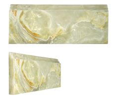 """Complete Tile Collection- Onyx Moldings - Amber Vert, Polished Finish, 5"""" H. x 3/4"""" D. x 12"""" L.  MI#: 111 #moldings #interiorideas #walltiles"""