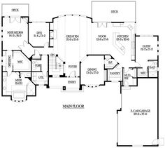 Plan W23380JD: Sloping Lot, Corner Lot, Northwest, Ranch, Luxury, Contemporary House Plans & Home Designs