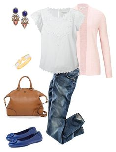 Spring Blues by millaschic on Polyvore featuring polyvore fashion style Étoile Isabel Marant CC H&M Tory Burch BaubleBar Hermès