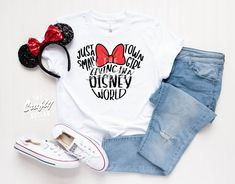 Just a Small Town Girl Living in a Disney World All Glitter Disney Shirt Disney Family Minnie Mouse Disney Shirts for Women and Girls Disney World Outfits, Cute Disney Outfits, Disneyland Outfits, Disney Clothes, Disney Fashion, Disney Familie, Disney Shirts For Family, Disney T Shirts, Disney Shirt For Women