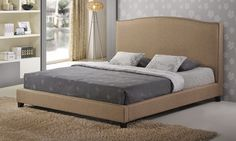Aisling Upholstered Platform Beds. Available in Queen or King Sizes. | Groupon