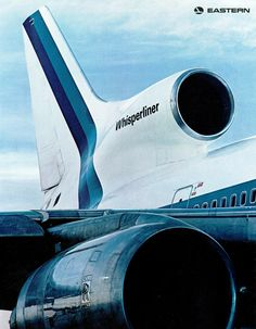"Eastern Air Lines, [Lockheed] [TriStar], ""Whisperliner,"" the back cover of a brochure marketing the introduction of the to the Eastern fleet. Airline Pilot, Passenger Aircraft, Air Photo, Aircraft Engine, Air Festival, Aviation Industry, Vintage Airplanes, Boeing 747, Boeing Planes"