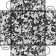 Black and White: Free Printable Boxes. Click on link to view and obtain all free templates for this black and white design. http://eng.ohmyfiesta.com/2014/08/black-and-white-free-printable-boxes.html