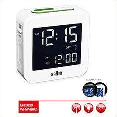Braun BNC008 Digital Travel Alarm Clock White
