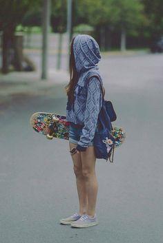7fd1d2beebcc8 8b04011701f677d74b46e3032bedd8e0.jpg (500×749) Chicas Skaters