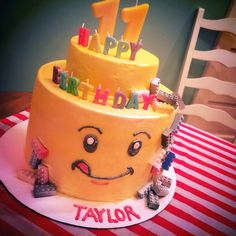 Lego kids birthday cake made with buttercream frosting not fondant