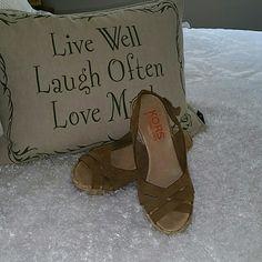 Michael Kors Tan Wedge Heels Suede Michael Kors wedges Michael Kors Shoes Heels