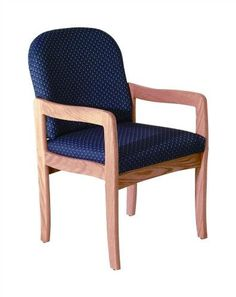 Upholstered Arm Chair w Wood Frame & Light Oak Finish (Earth Watercolor)