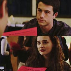 Dylan Minnette as Clay Jensen Katherine Langford as Hannah Baker Thirteen Reasons Why, 13 Reasons, Clay And Hannah, Good Movies, Awesome Movies, Clay Jensen, Depressing, Tv, Teen Wolf