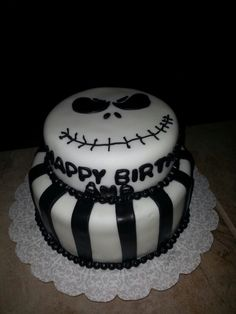 Loved my jack skellington cake :) #cake #skellington