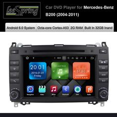 Android 6.0 Car DVD Player for Mercedes/Benz/Sprinter/B200/B-class/W245/B170/W209/W169 Wifi GPS Navigation Radio #Affiliate