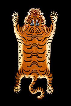 tibetan tiger rug.