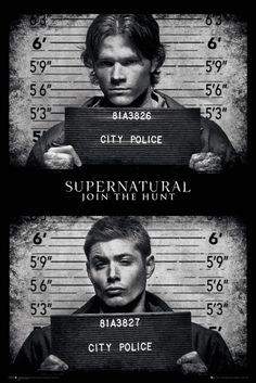 Supernatural Mug Shots - Official Poster