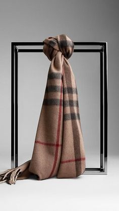Burberry smoked check trench Check Cashmere Scarf - Warm brushed cashmere scarf in check with fringing at both ends. Discover the scarf collection at Burberry.com
