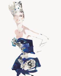 DAVID DOWNTON. Linda Evangelista in Dior by Galliano (July '94)