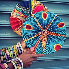 Ankara & leather fans made in Ghana. Shop here: www.apif-shop.com