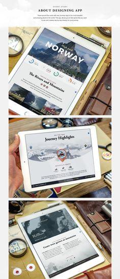 UI Design: Journey App | Abduzeedo Design Inspiration