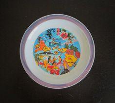 Hawaii State Souvenir Plate AtomicPutz.com