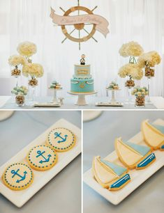 Sailing Away Nautical First Birthday {Korean Dol} // Hostess with the Mostess®