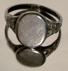 STERLING Silver Textured Front SIGNET Ring by FionaKennyAntiques