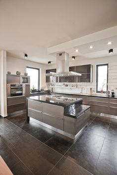Gray black kitchen island