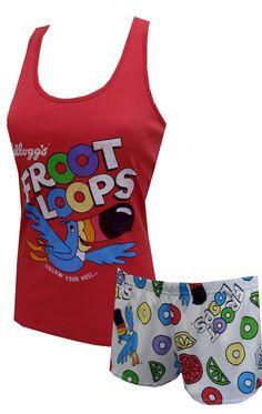 Kellogg's Fruit Loops Toucan Sam Shorty Pajama Set for women