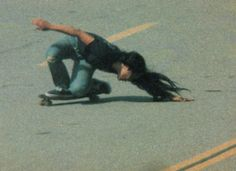"potentialitea: "" acehotel: "" Skate legend Peggy Oki, photographed by James O'Mahoney in 1975. "" alter ego. """